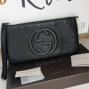 Authentic Gucci Wrist Wallet Cellarius